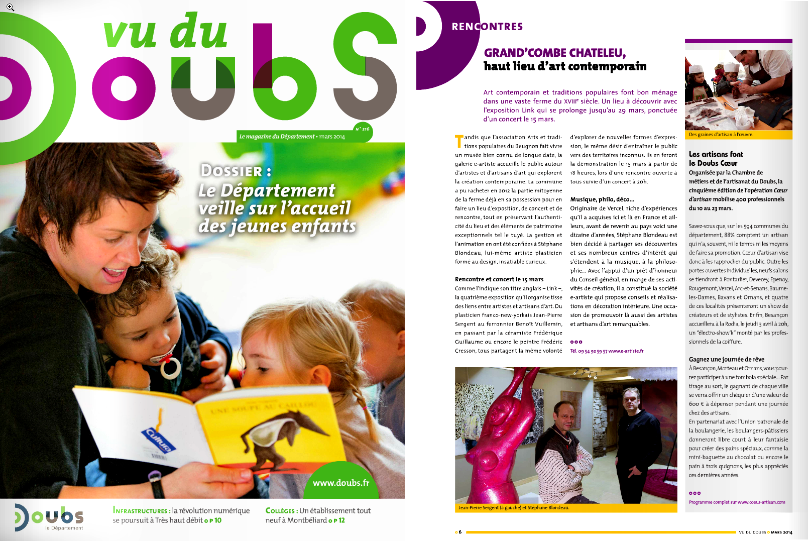 Vu du Doubs mars 2014